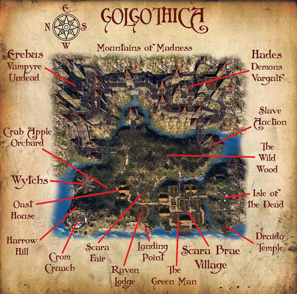 Golgothica Map